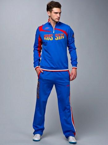 синий спортивный костюмы