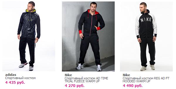 бренды мужских спортивных костюмов